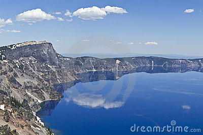 The rim of the caldera forming Crater Lake, Oregon