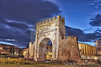 Rimini, the arch of Augustus - HDR