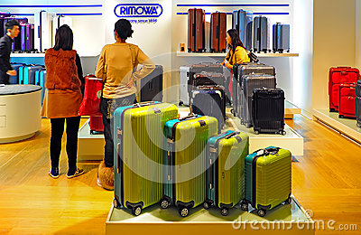 Rimowa luggage store Editorial Image