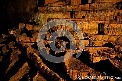 Rimstone (gours) in Slocjan Cave