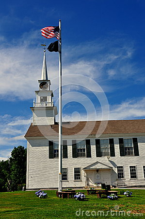 Rindge, NH: 1796 Second Rindge Meeting House Editorial Stock Photo