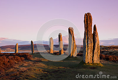 Ring Of Brodgar at dusk