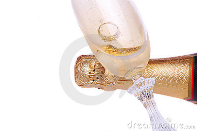 Ring In Champagne Glass