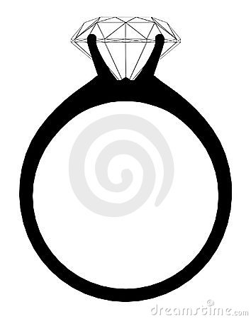 Ring With Diamond Vector 01