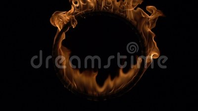 Ring of fire. The ring of fire stock video features an intense flame burning on a ring and forming into a circular shape. You can use this as an overlay
