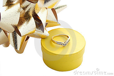 Ring gift box and bows