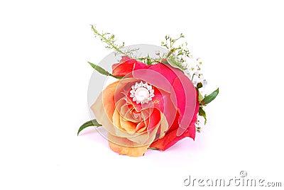 Ring inside rose