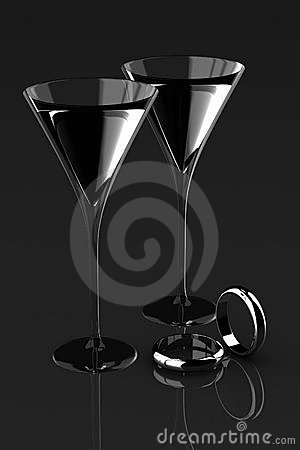 ring and martini glass