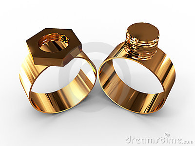 Ring with a nut and bolt