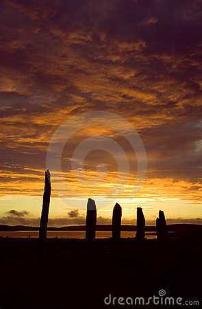 Free Ring Of Brodgar, Orkneys, Scotland Stock Images - 554724