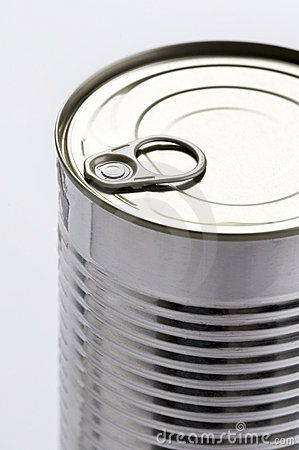 Ring pull on a tin can