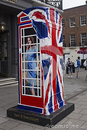 Ring a Royal phone box Editorial Photo