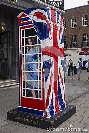 Ring a Royal phone box Editorial Photo