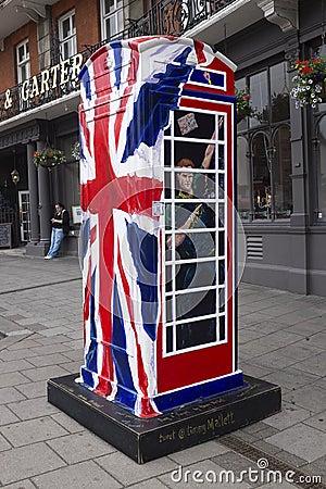 Ring a Royal phone box Editorial Stock Photo