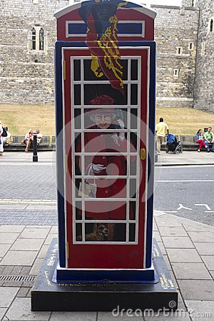 Ring a Royal phone box Editorial Stock Photo