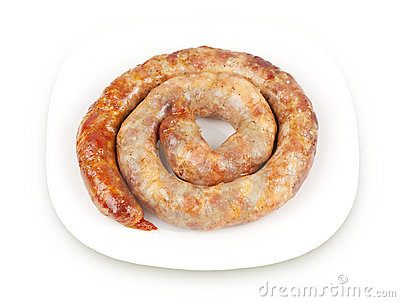 Ring sausage fried