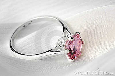 Ring with stone.