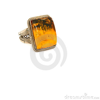 Free Ring With Amber Stock Photo - 15993230