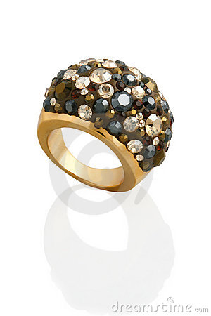 Free Ring With Crystals Royalty Free Stock Photography - 13313147