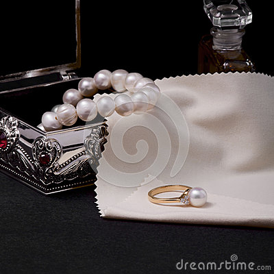 Free Ring With Pearl Stock Photo - 36608860