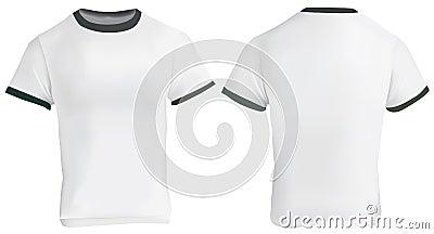 ringer t shirt template stock vector image 75358891. Black Bedroom Furniture Sets. Home Design Ideas