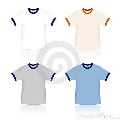 Ringer T-shirts blank templates