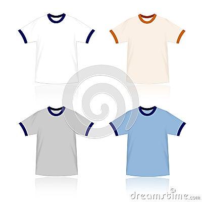 Ringer T-shirts blank templates