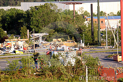 Ringgold Georgia Tornado Damage Editorial Photo