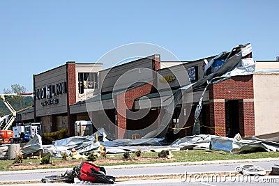 Ringgold Georgia Tornado Damage Editorial Stock Photo