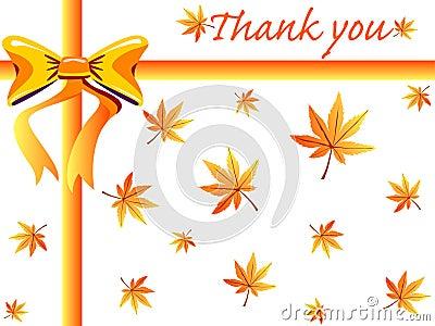 Ringraziamenti di caduta che danno scheda