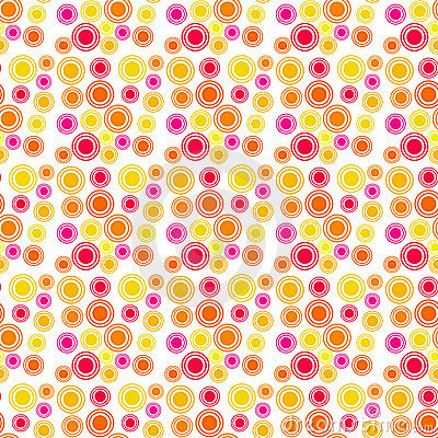 Rings and Dots Seamless Pattern