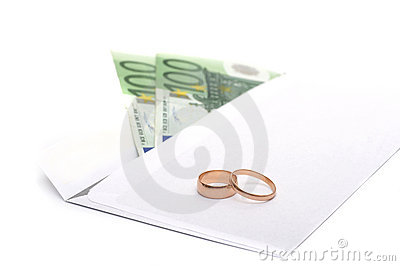 Rings, money and an envelope