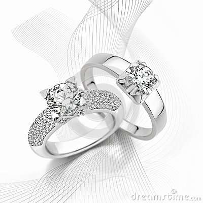 Free Rings Of Gold With Diamonds Royalty Free Stock Photos - 115179098