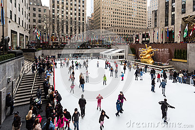 The Rink (New York City) Editorial Image