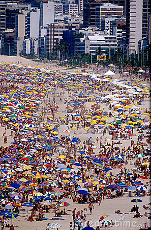 Free Rio Beach & Umbrellas During Carnival Royalty Free Stock Photo - 5116275