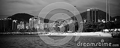 Rio de Janeiro as seen from a boat on Baia de Guanabara