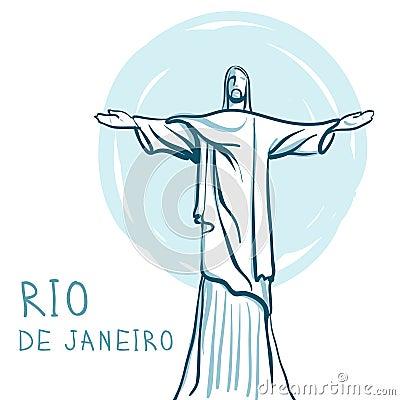 Rio De Janeiro and Christ the Redeemer, Brazil