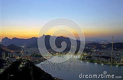 Rio de Janeiro at dawn