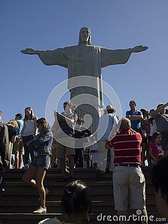 Rio de Janeiro Jesus statue Editorial Stock Photo