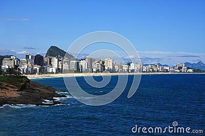 Rio de Janeiro panoramic view of Copacabana