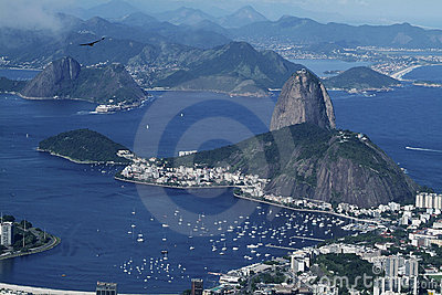Rio de Janeiro and Sugarloaf panorama vew