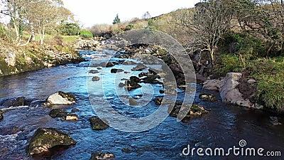 Rio Glen e cachoeiras de Carrick, em County Donegal - Irlanda video estoque
