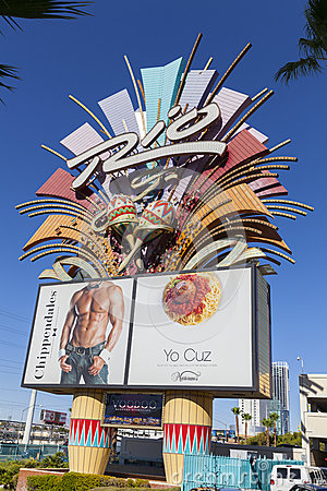The Rio Hotel sign in Las Vegas, NV on June 14, 2013 Editorial Photo