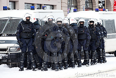 Riot Police Editorial Stock Image
