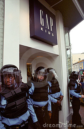 Riot Police Editorial Image