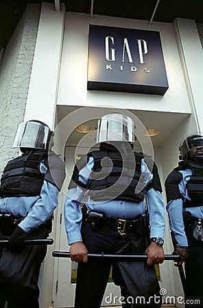 Riot Police Editorial Photo