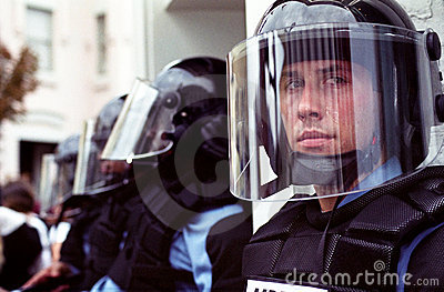Riot Police Editorial Stock Photo