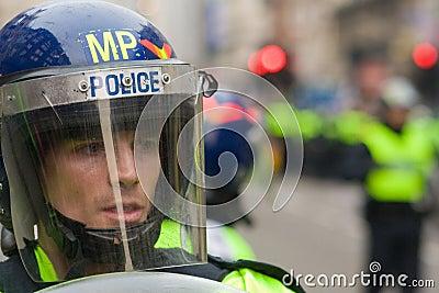 Riot Police Editorial Image