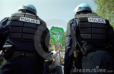 Riot Police At Protest Royalty Free Stock Photo - Image: 13896265