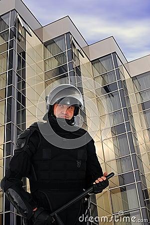 Riot policeman